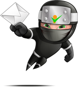marketing ninja with mail